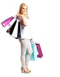 Young Happy Woman Shopping Royalty Free Stock Photos