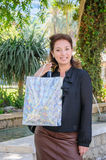 Young happy woman with shopping bag Royalty Free Stock Photo