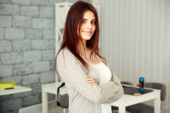 Young happy woman standing Royalty Free Stock Photo