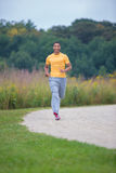 Young Healthy African American Jogging Outdoor Stock Photography
