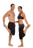Young Healthy Couple Workout Together Isolated Royalty Free Stock Photos
