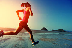 Young healthy lifestyle asian woman running Royalty Free Stock Photography