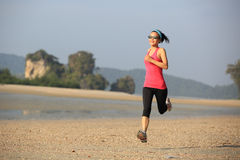 Young healthy lifestyle asian woman running Royalty Free Stock Images