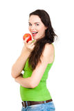 Young healthy woman eating apple Royalty Free Stock Photo
