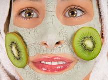 Young healthy woman with face mask. Stock Photography