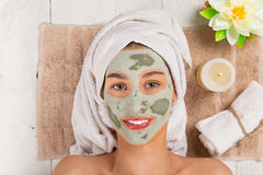 Young healthy woman with face mask. Stock Images