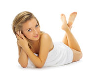 Young healthy woman isolated Stock Image