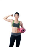 Young and Healthy Woman Love working out Royalty Free Stock Photo