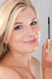 Young healthy woman with mascara Royalty Free Stock Photo