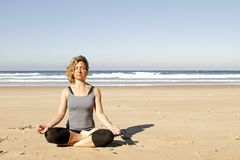 Young healthy woman meditating Stock Photography