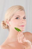 Young healthy woman with pure skin Royalty Free Stock Photos