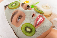 Young healthy woman with face mask. Royalty Free Stock Images