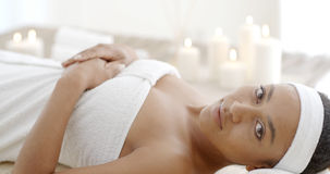 Young And Healthy Woman In Spa Salon Royalty Free Stock Image