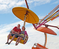 Young at heart funfair ride Stock Photography