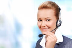 Young helpdesk operator Royalty Free Stock Image