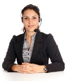 Young helpline agent Royalty Free Stock Photography