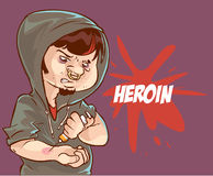 Young heroin user Stock Photo