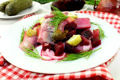 Young herring salad Stock Photo