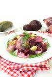 Young herring salad Stock Photos