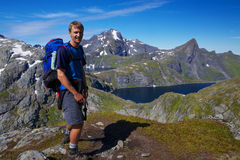 Young hiker in Norway Stock Images