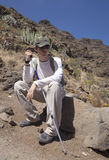 Young hiker resting Royalty Free Stock Image