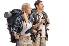Free Young Hikers Looking In The Distance Royalty Free Stock Photo - 78312515