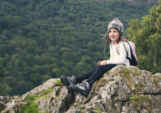 Young Hiking Girl in the Lake District Royalty Free Stock Photo
