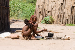 Young Himba woman Stock Photo