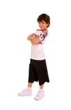 Young Hip-Hop Dancer Boy. Smiling Young Boy Hip Hop or Break Dancer royalty free stock photos