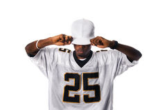 Young hip-hop dancer standing on white Stock Photos