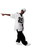 Young hip-hop dancer on white Stock Images
