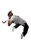 Young hip-hop dancer on white Stock Photos