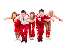 Young hip hop dancers dancing Stock Images