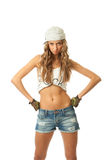 The young hip-hop girl Royalty Free Stock Photo