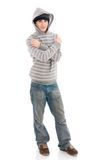 The young hip-hop man isolated on a white. Background Royalty Free Stock Photo