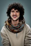 Young Hippie with Cheerful Expression Royalty Free Stock Photography