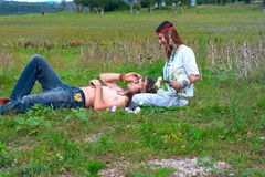 Young hippie couple Royalty Free Stock Photo