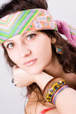 Young hippie woman Stock Photo