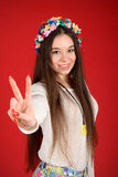 Young hippie woman Royalty Free Stock Image