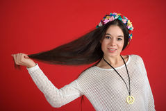 Young hippie woman Royalty Free Stock Images