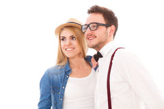 Young hipster couple Royalty Free Stock Photo