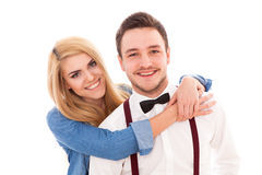 Young hipster couple Stock Images