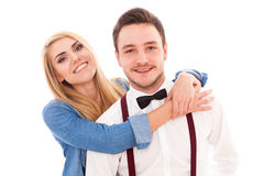 Young hipster couple Stock Photo