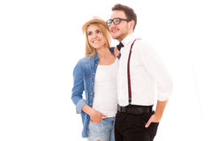 Young hipster couple Stock Photography