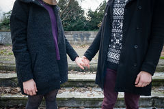 Young hipster cuople lovers Stock Photography