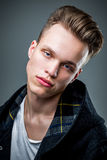 Young hipster male model Royalty Free Stock Images
