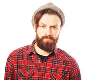 Young hipster man wearing hat Royalty Free Stock Photo