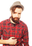 Young hipster man wearing hat Stock Image