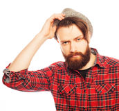 Young hipster man wearing hat Stock Photography