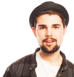 Young hipster man wearing hat Royalty Free Stock Images